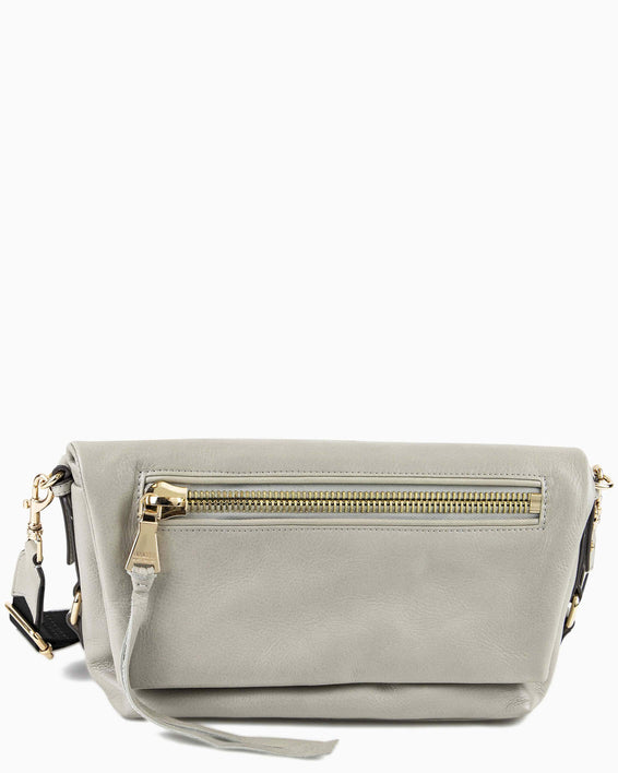 Zip Me Up Shoulder Bag - elephant grey front