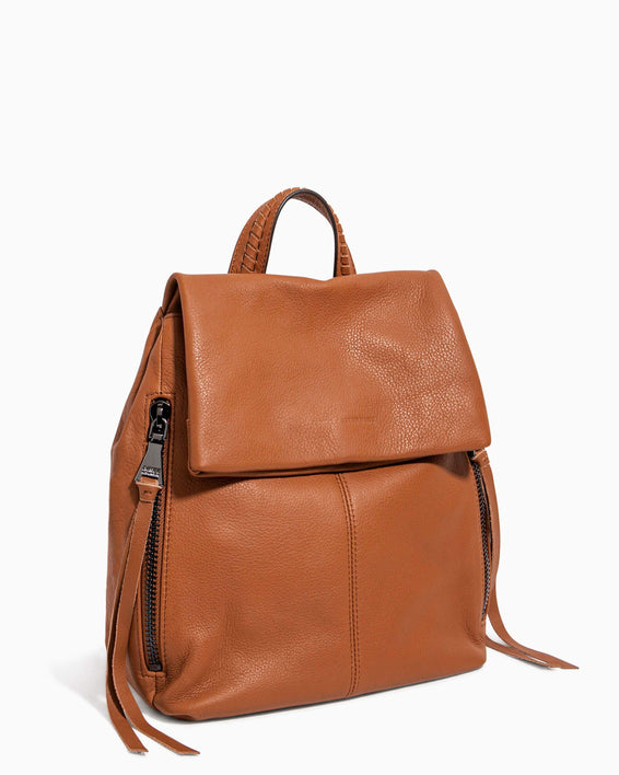 Bali Backpack Chestnut - side angle