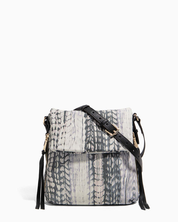 Bali Tall Crossbody Feather Print - front