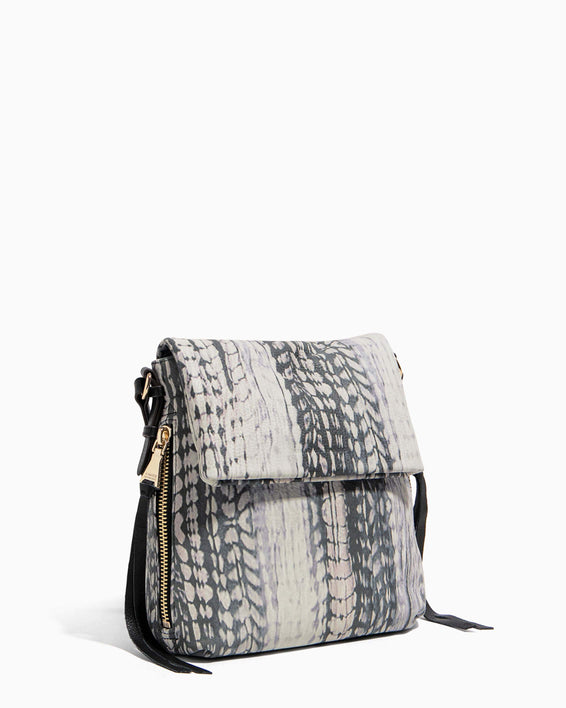Bali Tall Crossbody Feather Print - side angle