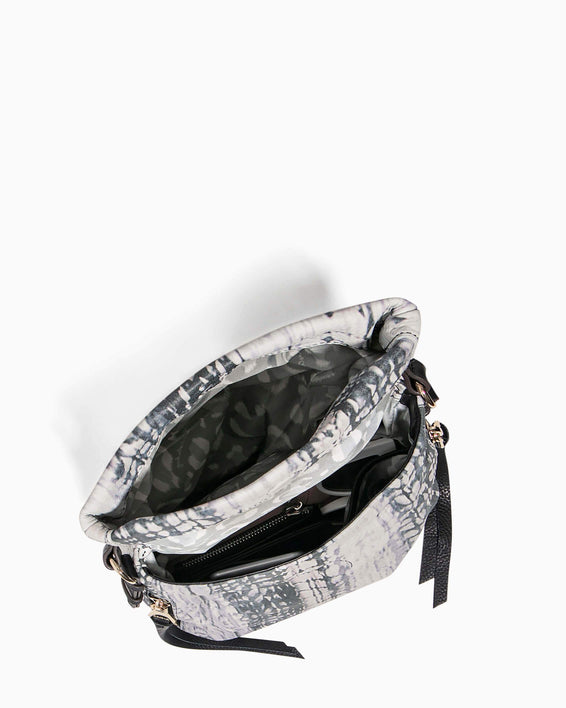 Bali Tall Crossbody Feather Print - interior functionality