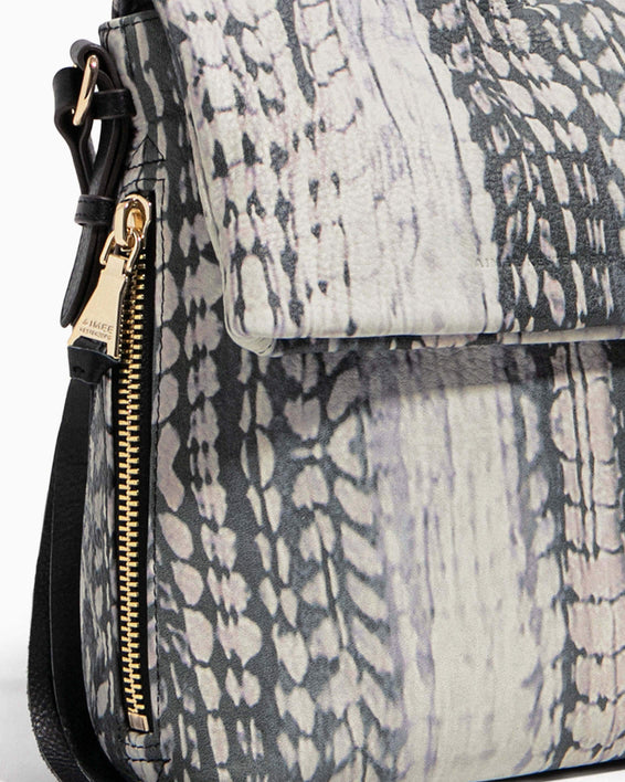 Bali Tall Crossbody Feather Print - detail
