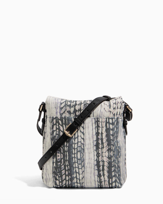 Bali Tall Crossbody Feather Print - back