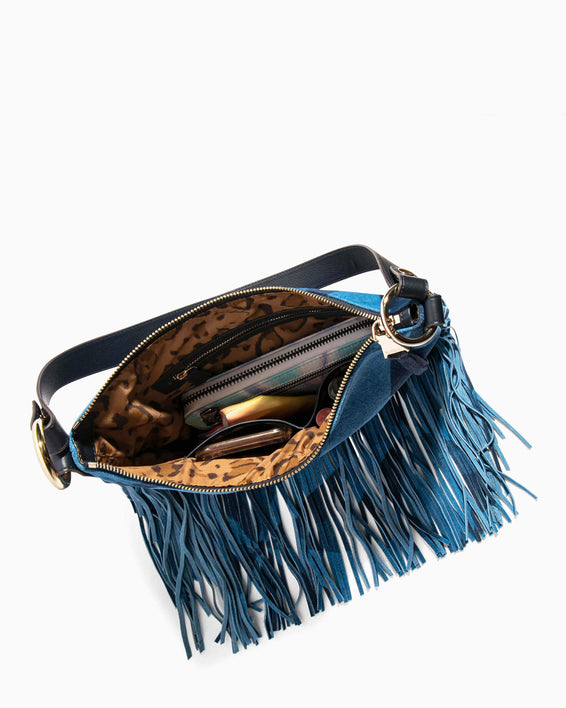 Beach Babe Fringe Hobo Denim Patchwork - interior functionality