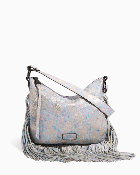 Beach Babe Fringe Hobo Opal Distressed Metallic - front