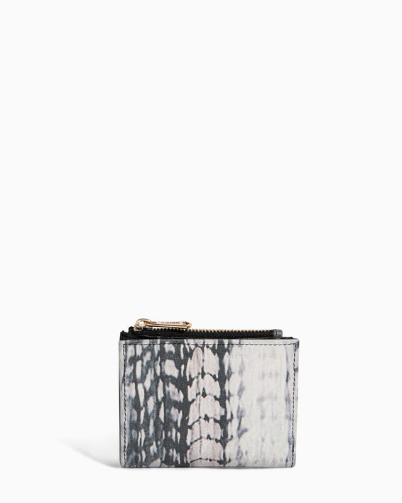 Go Getter Bifold Wallet Feather Print - front