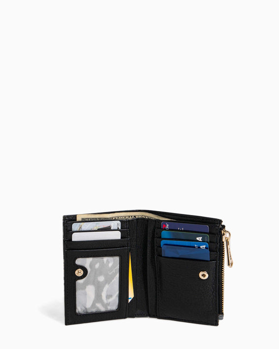 Go Getter Bifold Wallet Feather Print - back