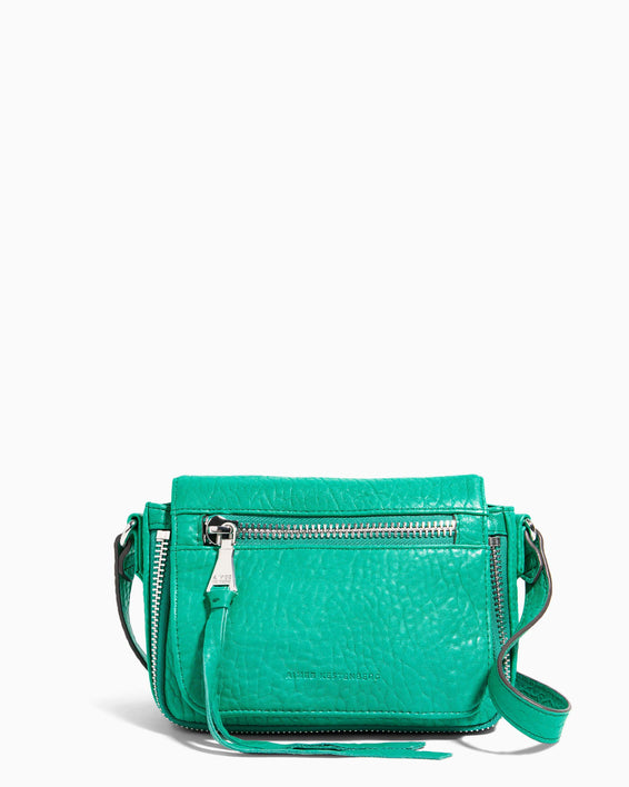 Good Times Mini Crossbody Earth Green Bubble Lamb - front