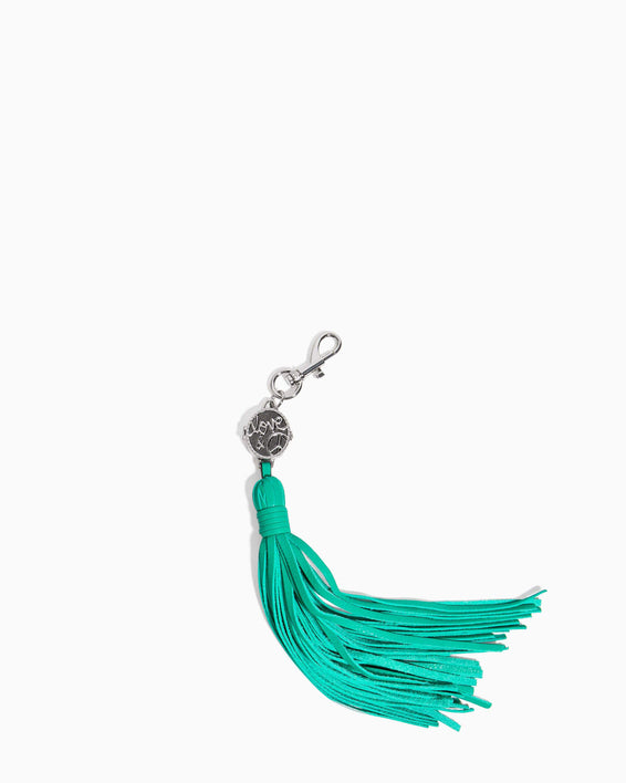 Love Locket Tassel Earth Green - front