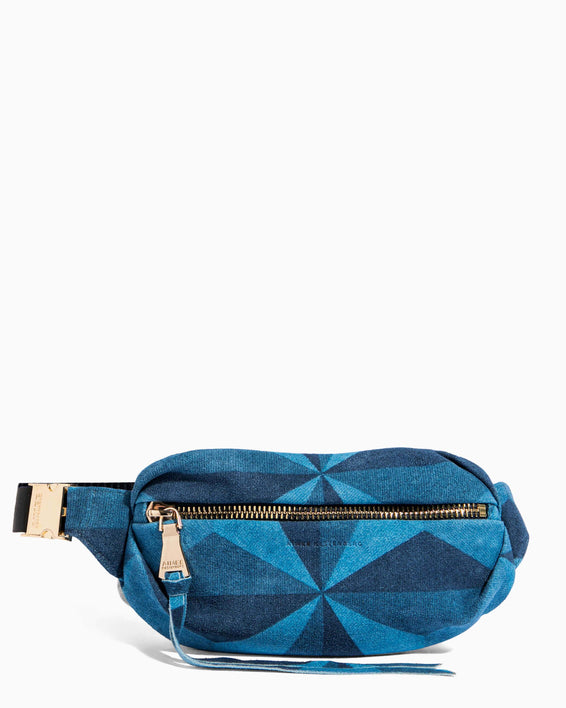 Milan Bum Bag Denim Patchwork - front