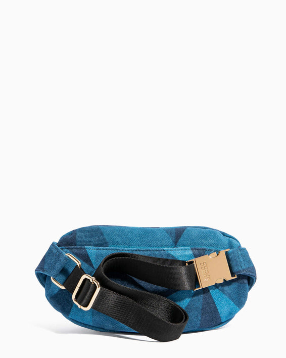 Milan Bum Bag Denim Patchwork - back