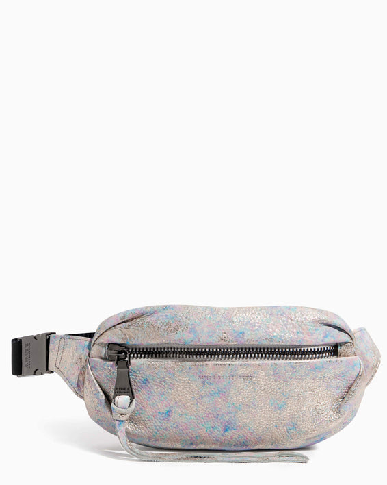 Milan Bum Bag Opal Distressed Metallic - front