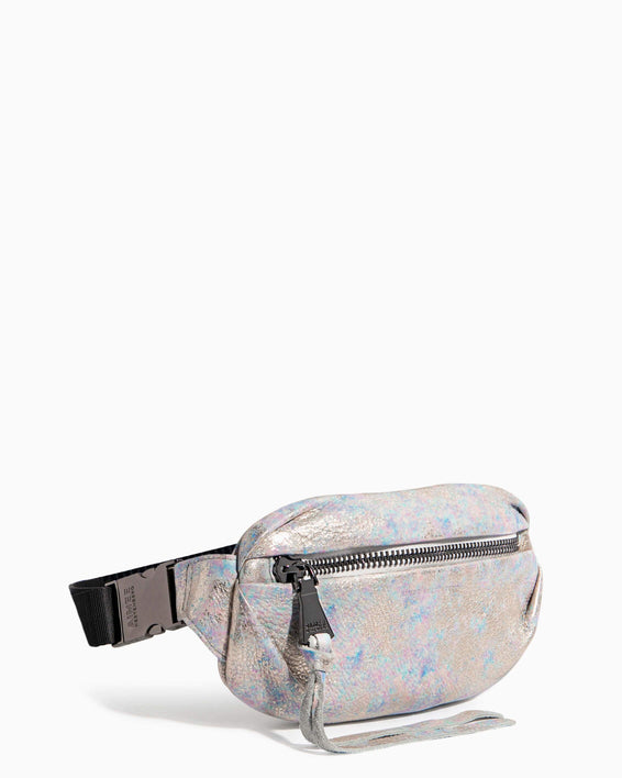Milan Bum Bag Opal Distressed Metallic - side angle