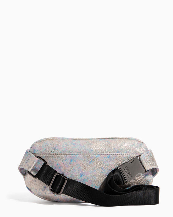 Milan Bum Bag Opal Distressed Metallic - back