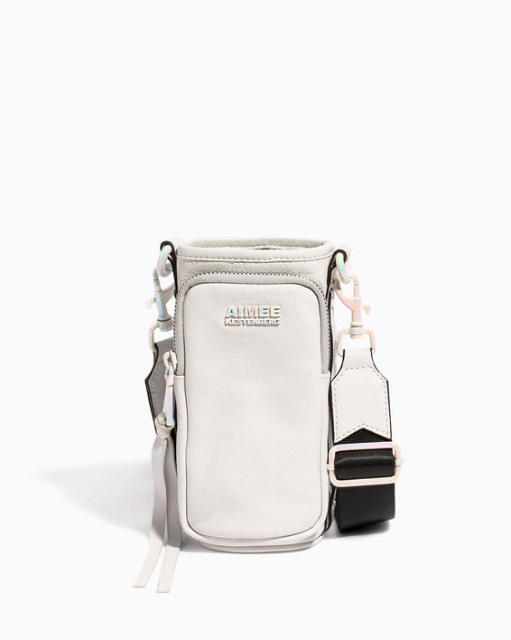 On Top Of The World Water Bottle Crossbody Cloud - front