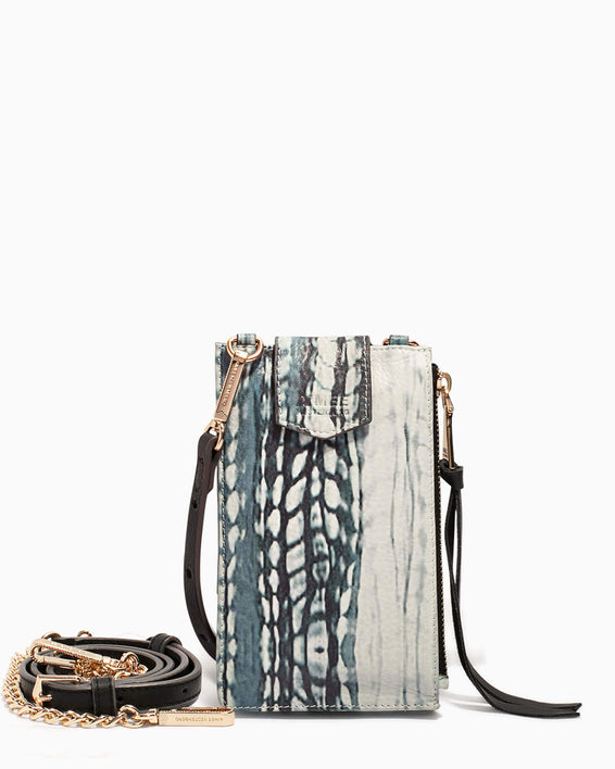 Out Of Office Phone Crossbody Feather Print - front