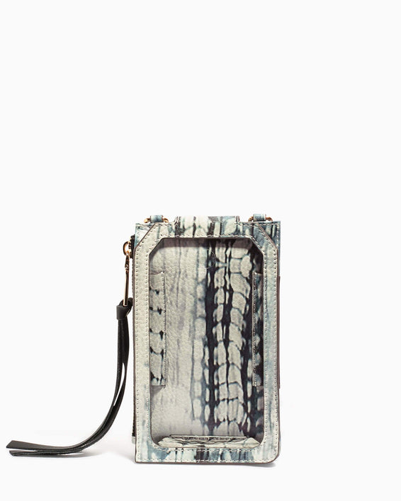 Out Of Office Phone Crossbody Feather Print - back