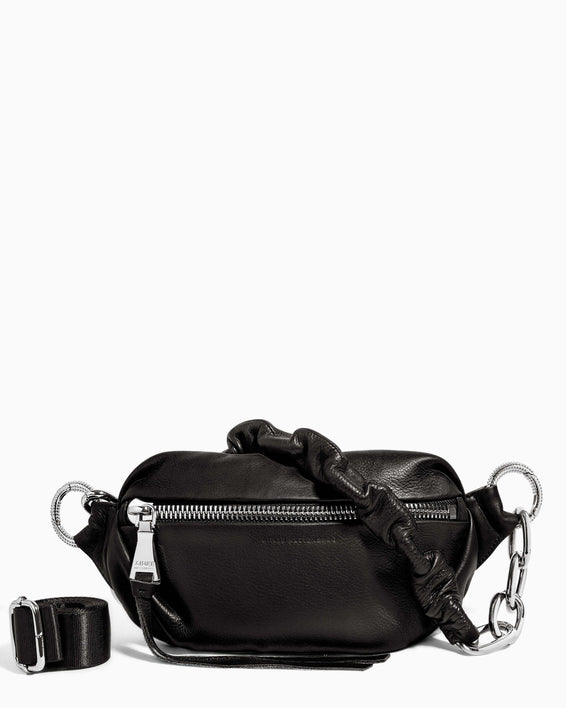 Outta This World Bum Bag With Chain Strap Black - front