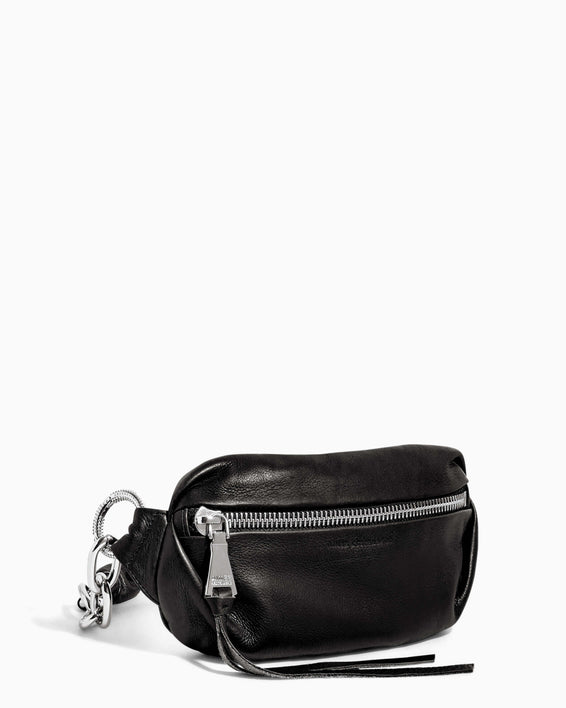Outta This World Bum Bag With Chain Strap Black - side angle