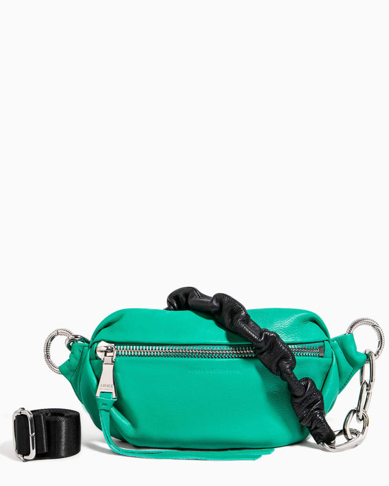 Outta This World Bum Bag With Chain Strap Earth Green - front