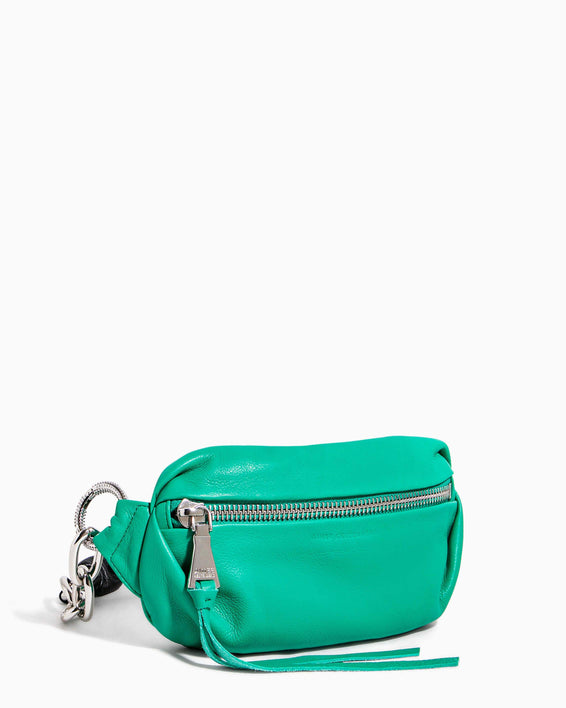 Outta This World Bum Bag With Chain Strap Earth Green - side angle