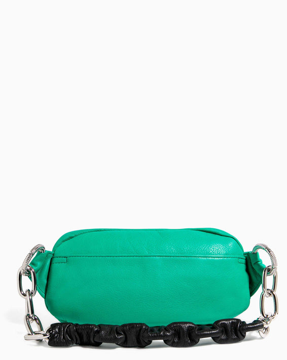 Outta This World Bum Bag With Chain Strap Earth Green - back