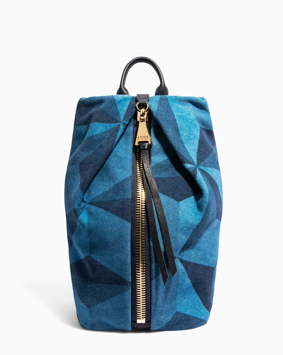 Tamitha Backpack Denim Patchwork - front