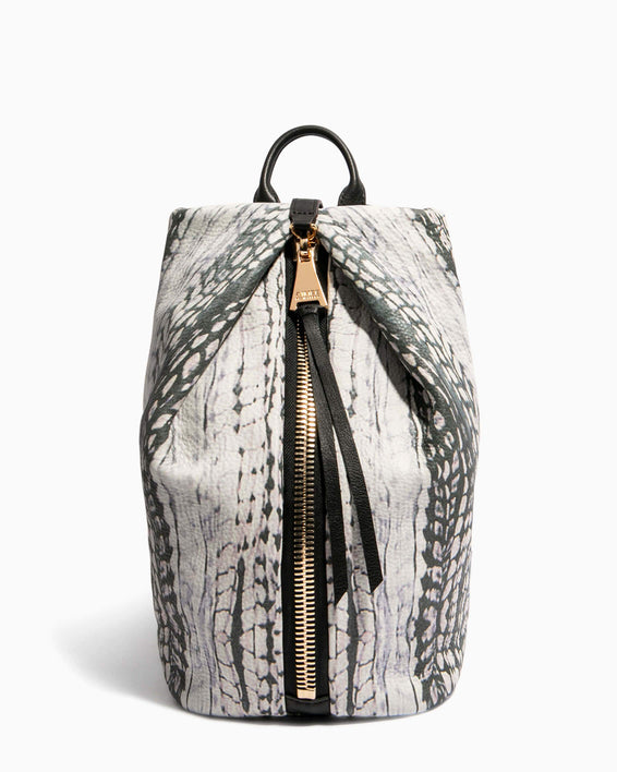 Tamitha Backpack Feather Print - front