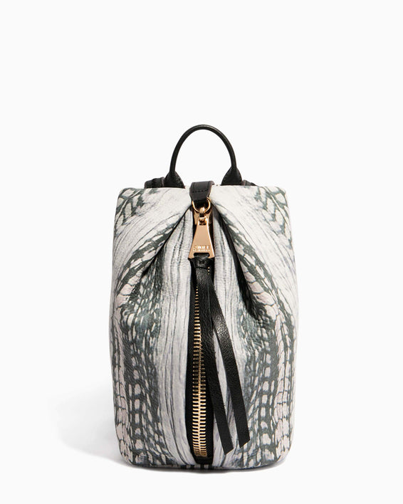 Tamitha Mini Backpack Feather Print - front