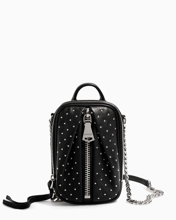 Tamitha Phone Crossbody Black Studded - front