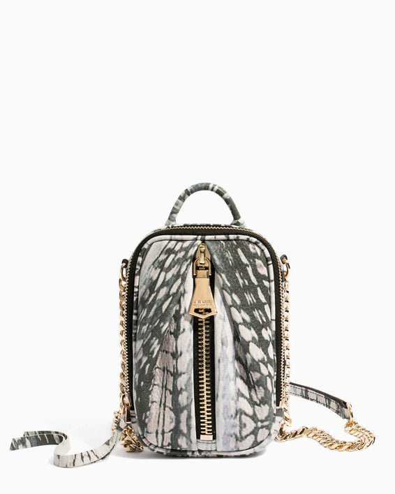 Tamitha Phone Crossbody Feather Print - front