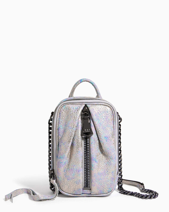 Tamitha Phone Crossbody Opal Distressed Metallic - front