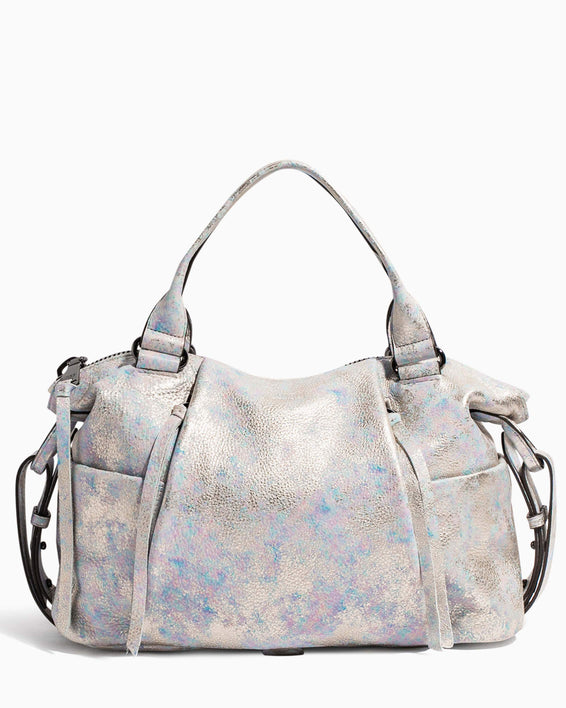 Tamitha Satchel Opal Distressed Metallic - front