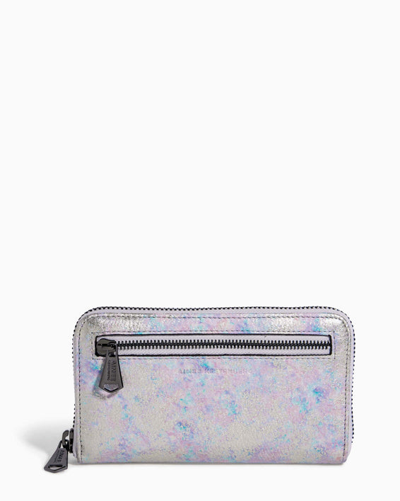 Zip It Up Continental Wallet Opal Distressed Metallic - front
