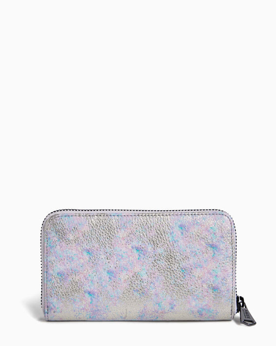 Zip It Up Continental Wallet Opal Distressed Metallic - back