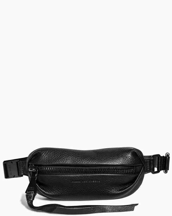 Milan Mini Bum Bag Black