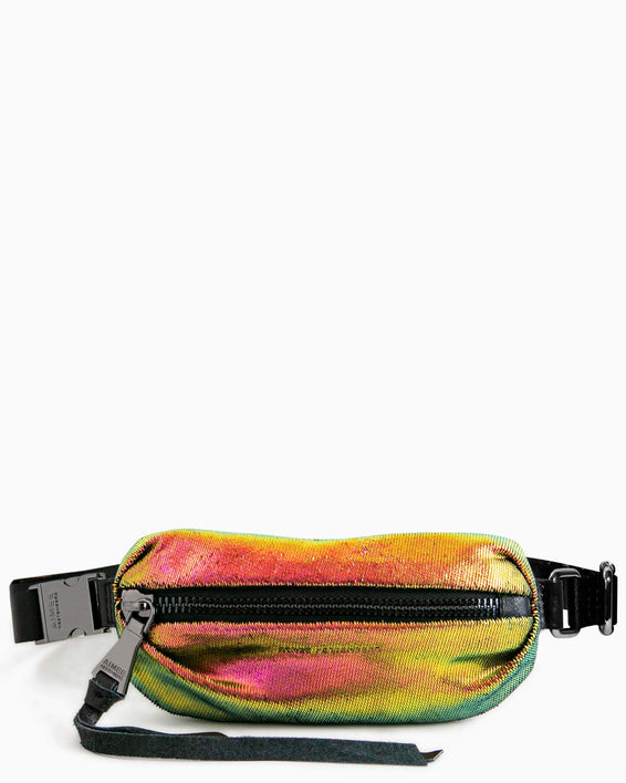 Milan Mini Bum Bag Iridescent Scales