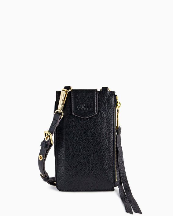 Out Of Office Phone Crossbody - black front