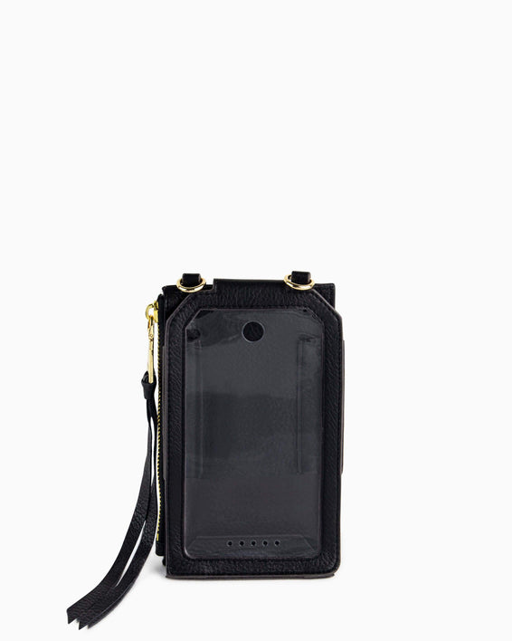 Out Of Office Phone Crossbody - black inside