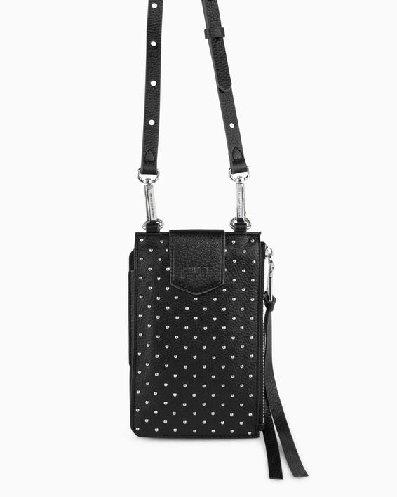 Out Of Office Phone Crossbody - black studded alternate view