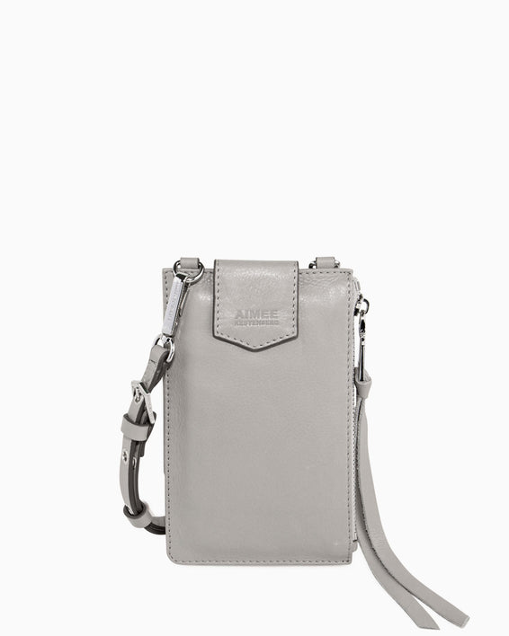 Out Of Office Phone Crossbody - elephant grey front