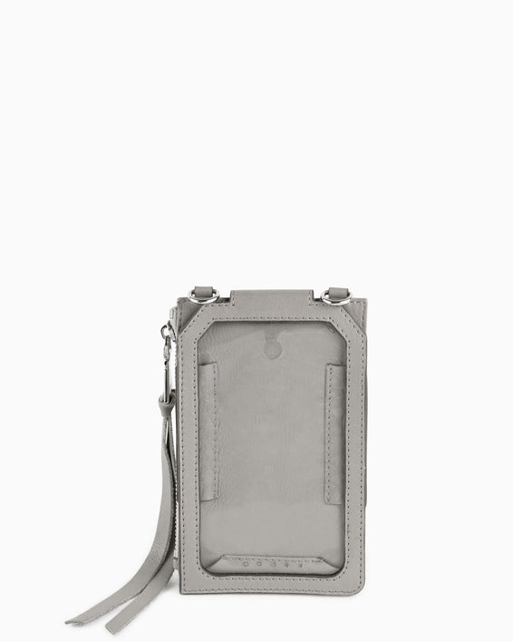 Out Of Office Phone Crossbody - elephant grey interior functionality