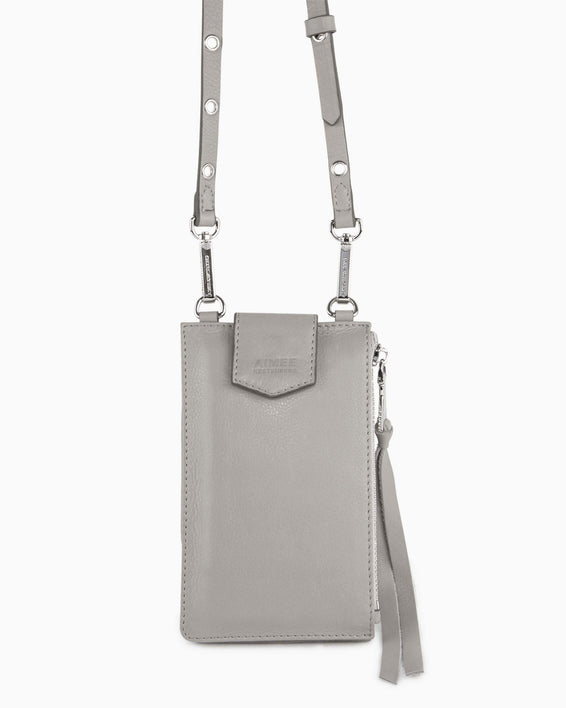 Out Of Office Phone Crossbody - elephant grey alternate view
