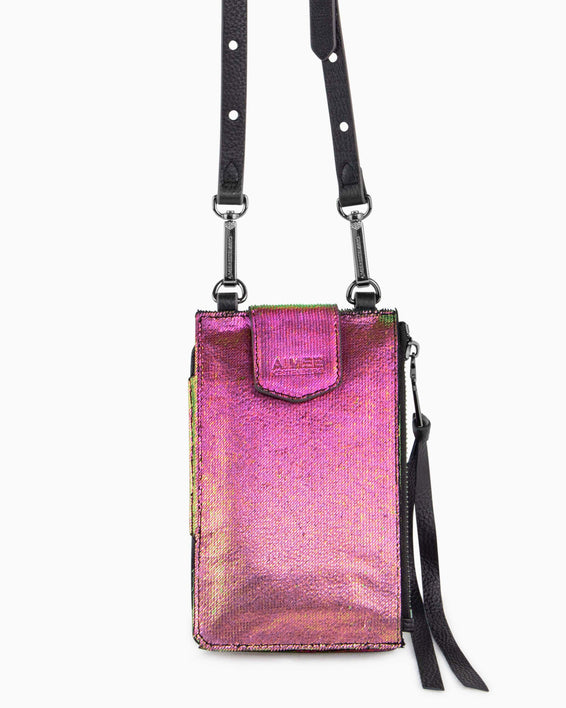 Out Of Office Phone Crossbody - iridescent scales alternate view