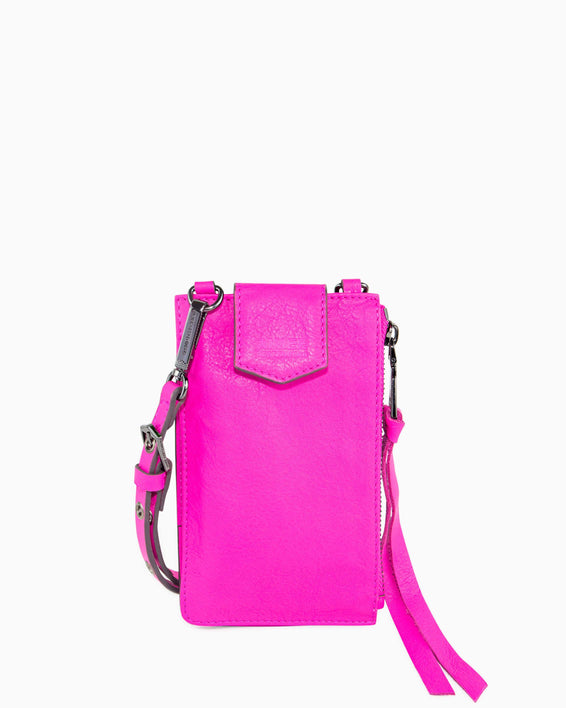 Out Of Office Phone Crossbody - pop pink front