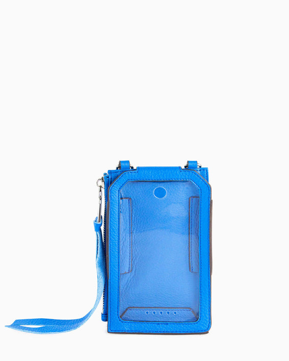 Out Of Office Phone Crossbody - sky blue inside