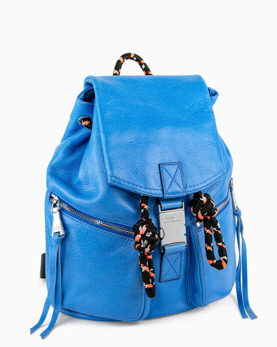 Sky High Backpack - sky blue side angle