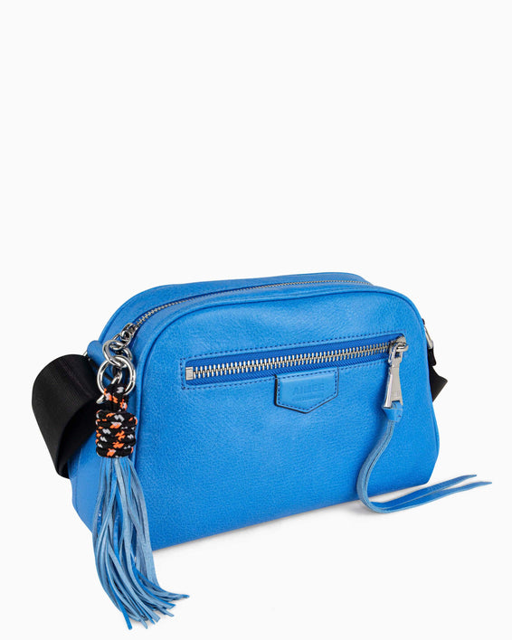 Sky High Crossbody - sky blue side angle