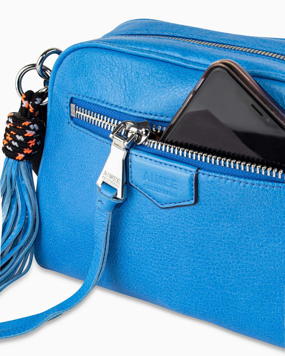 Sky High Crossbody - sky blue detail