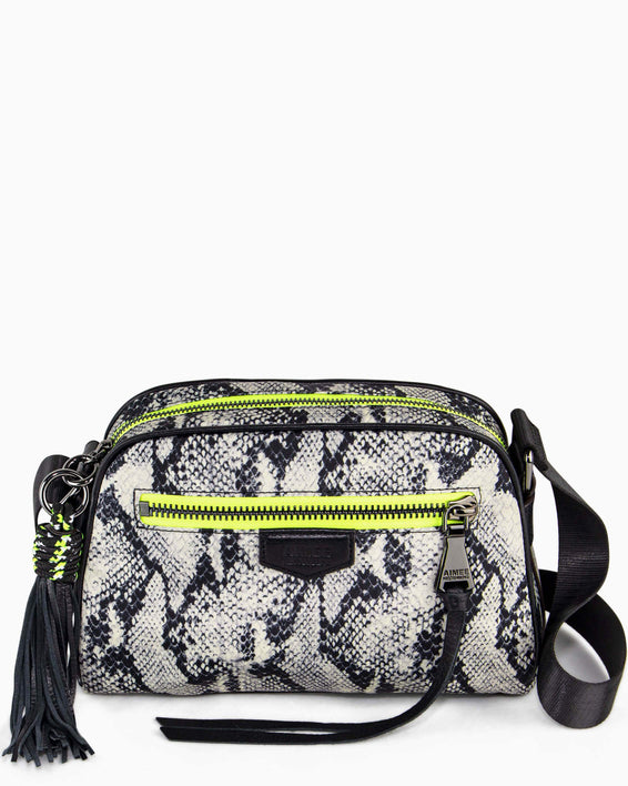 Sky High Crossbody - vanilla snake nylon front